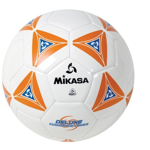 Mikasa No 4 Deluxe Cushioned Soccer Ball, Orange/White/Blue - image 1 of 1