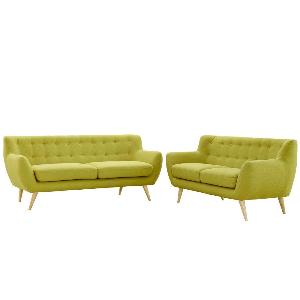 Remark 2pc Living Room Set Wheat - Modway