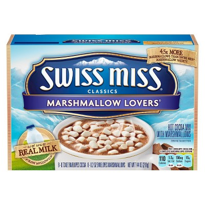 Hot Cocoa: Swiss Miss Hot Cocoa Marshmallow Lovers Packets