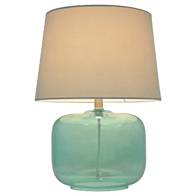 Glass Table Lamp Aqua - Pillowfort™