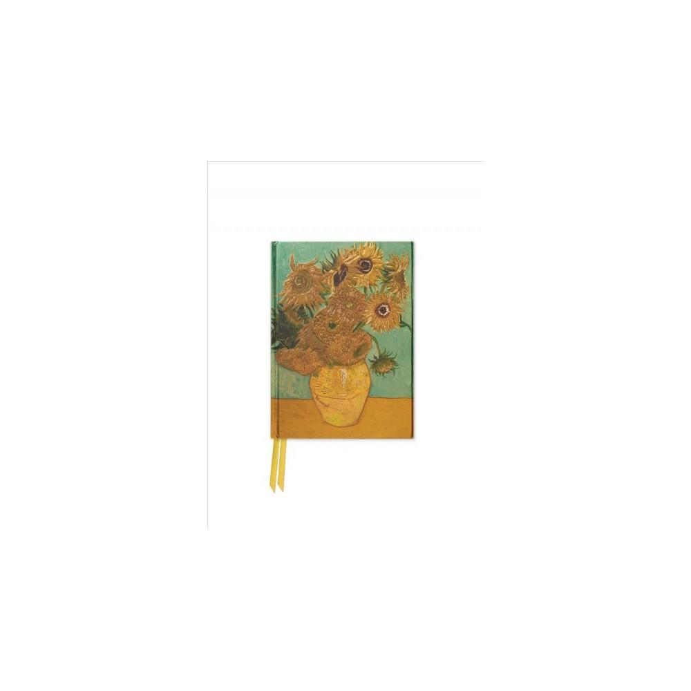 Van Gogh Sunflowers Foiled Pocket Journal (Hardcover)