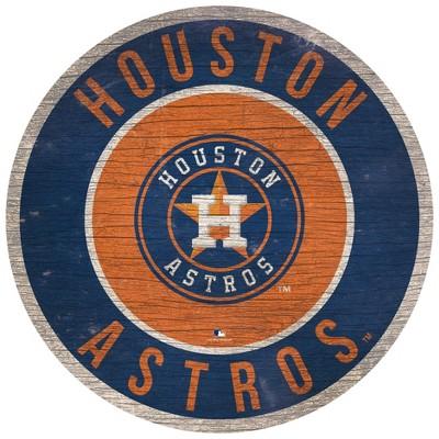 "MLB Houston Astros Retro Circle Wooden Wall Art - 12"""
