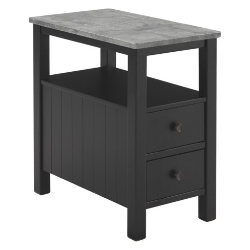 Ezmonei Chair Side End Table Black Gray Signature Design By Ashley