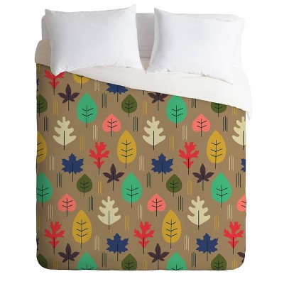Deny Designs Zoe Wodarz King Leaf It All Behind Duvet Cover Set Multi