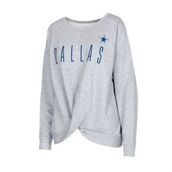 NFL Dallas Cowboys Women's Zuri Gray Crew Neck Fleece Sweatshirt