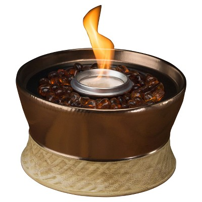 7  Clean Burn Ceramic Tabletop Firepiece Torch - Bronze - TIKI®