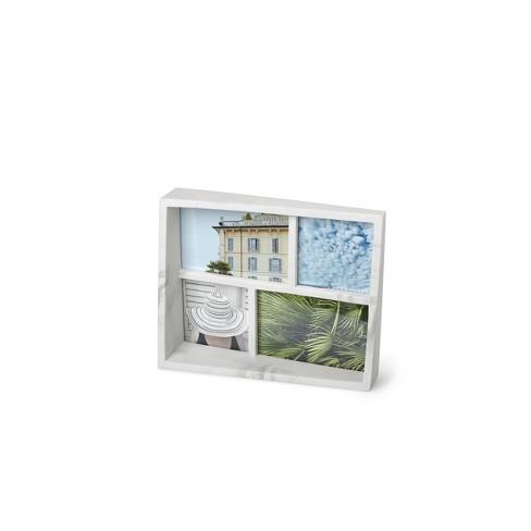 Marble Edge Multiple Images Frame White
