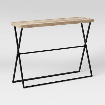 Jamesville X Frame Wood Console Gray - Threshold™