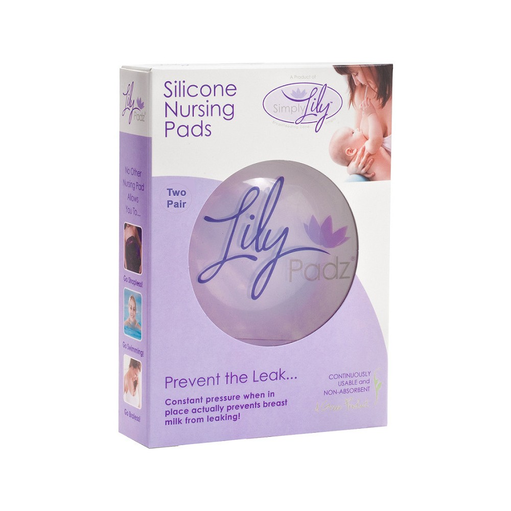 Image of LilyPadz Reuseable Nursing Pads Double, Clear
