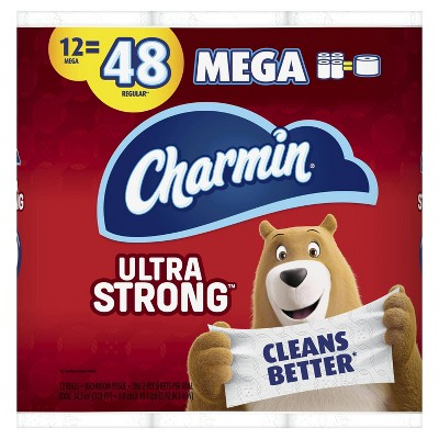 Charmin Ultra Strong Toilet Paper - 12 Mega Rolls