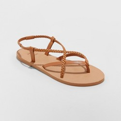 cae269723485 Women s Jana Braided Thong Ankle Strap Sandal - Universal Thread ...