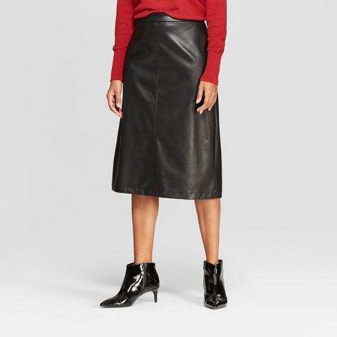 5965364c461 Women s Faux Leather Midi Skirt - Prologue™ Black 2   Target
