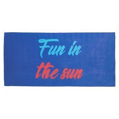 Fun In The Sun Beach Towel Blue