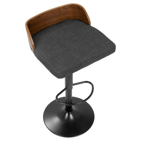 Phenomenal Maya Mid Century Modern Adjustable Barstool Rich Charcoal Lumisource Pdpeps Interior Chair Design Pdpepsorg