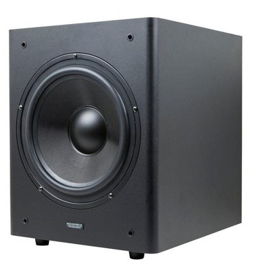 Monoprice 10in Powered Studio Multimedia Subwoofer w/ 200W Class AB Amp and Composite Cone
