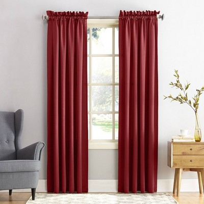 Seymour Energy Efficient Room Darkening Rod Pocket Curtain Panel - Sun Zero