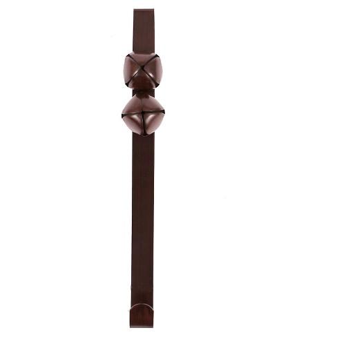 """13.75"""" Wreath Jingle Bell Hanger Brown - Wondershop™ - image 1 of 1"""