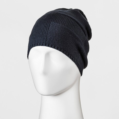 Men s Geo Slouch Beanie - Goodfellow   Co™ Navy One Size 47a65b8837c
