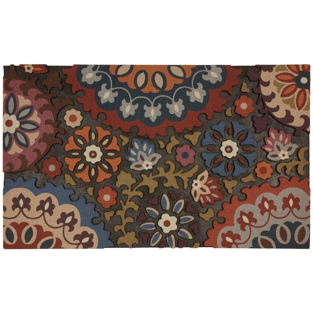Medallion Rubber Doormat