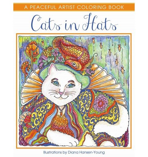 Cats in Hats Adult Coloring Book: A Peaceful Artist Coloring Book - image 1 of 1