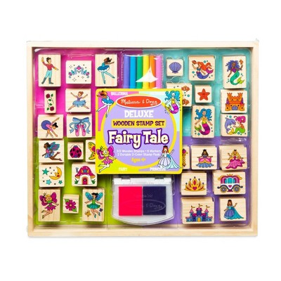 Melissa & Doug Deluxe Wooden Stamp Set Fairy Tale