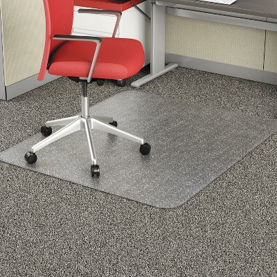 "3'10""x5' Rectangle Solid Office Chair Mat Clear - Alera"