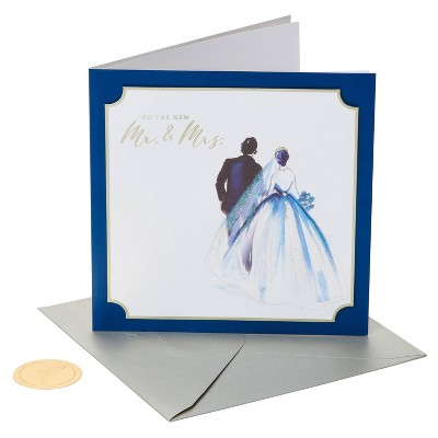 Card Wedding Painterly Couple - PAPYRUS