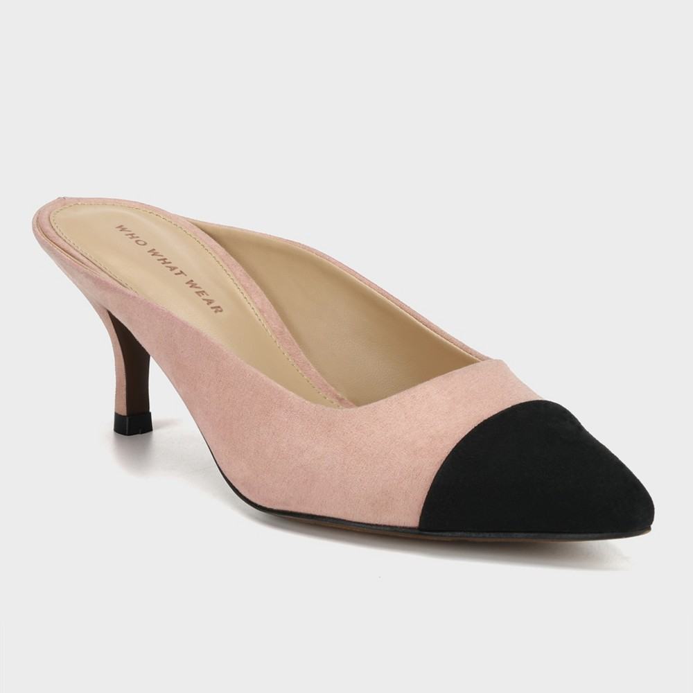 Women's Alana Toe Cap Kitten Heeled Pumps - Who What Wear Blush 7, Pink