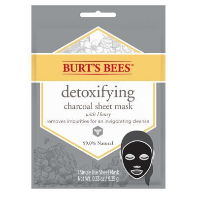 Burt's Bees Detoxifying Charcoal Sheet Face Mask - 1ct - 0.33oz