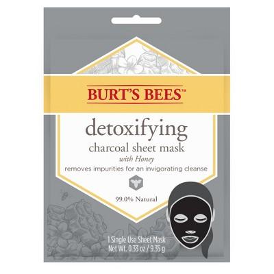 Facial Treatments: Burt's Bees Detoxifying Sheet Mask