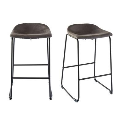 2pc Galloway Metal Barstool Set - Picket House Furnishings