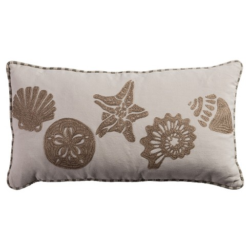 "Light Tan Shell Throw Pillow Shell (11""x21"") - Rizzy Home - image 1 of 1"