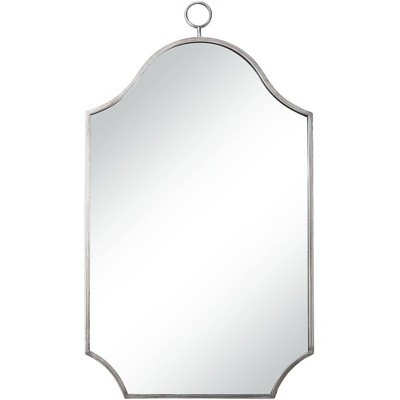 """Uttermost Pasaic Silver 24"""" x 42 3/4"""" Arched Top Wall Mirror"""