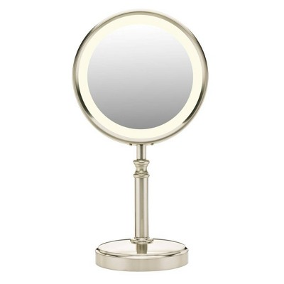 Conair Satin Nickle Mirror - 10x Magnification