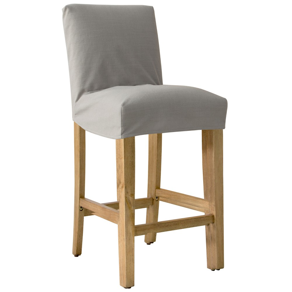 Slipcover Bar Stool Linen Putty - Simply Shabby Chic