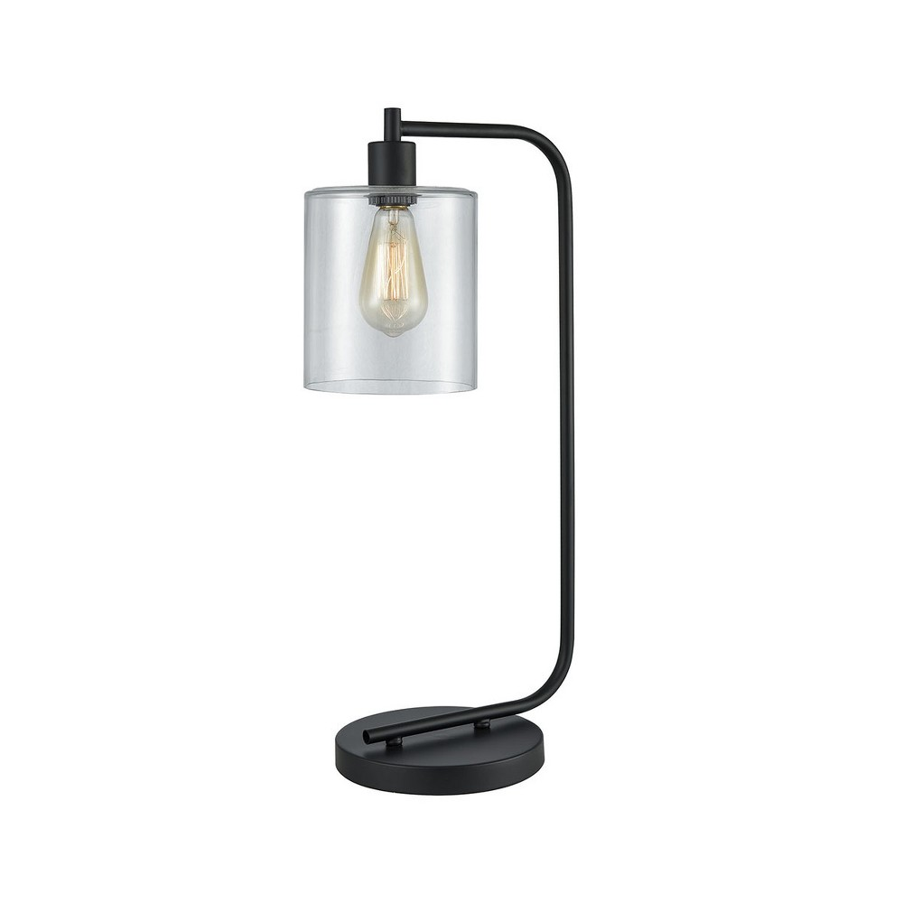 Image of Elmway Table Lamp Black (Includes Energy Efficient Light Bulb) - Pomeroy