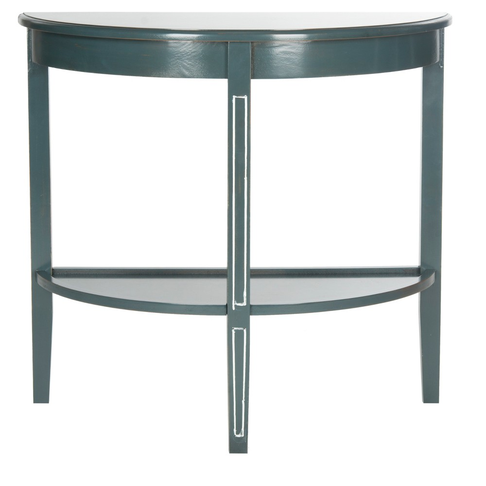 Amos Console Table - Teal/White (Blue/White) - Safavieh