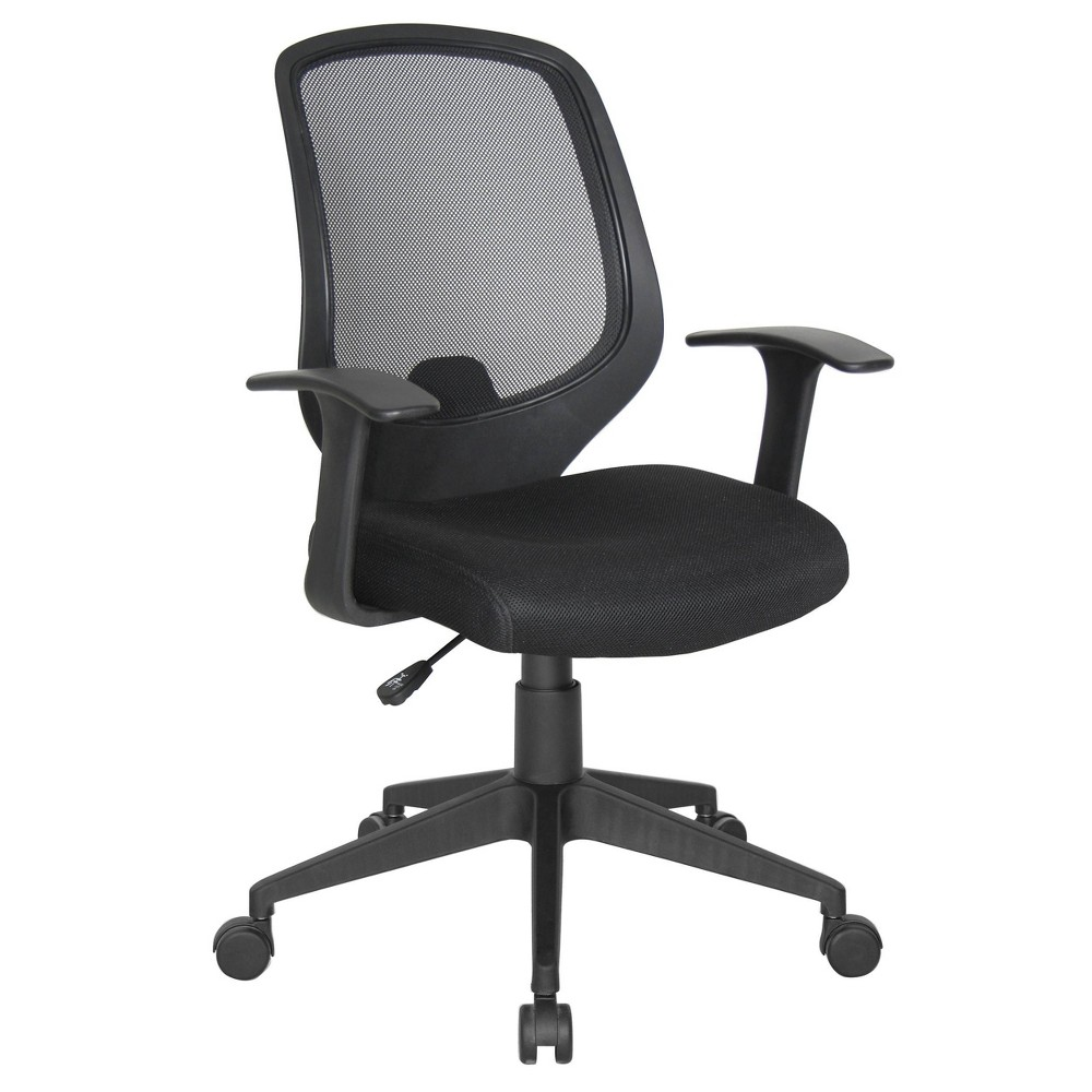 Image of 20pk Essentials Mesh Swivel Task Chair with Arms Black - OFM