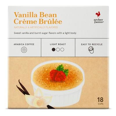 Vanilla Bean Crème Brulée Light Roast Coffee - Single Serve Pod 18ct - Archer Farms™