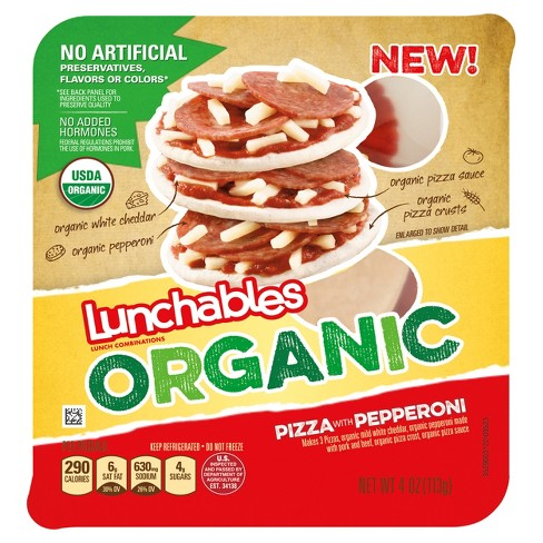 Oscar Mayer Lunchables Organic Pepperoni Pizza - 4.3oz - image 1 of 1
