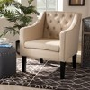 Brittany Upholstered Club Chair Beige - Baxton Studio - image 2 of 4