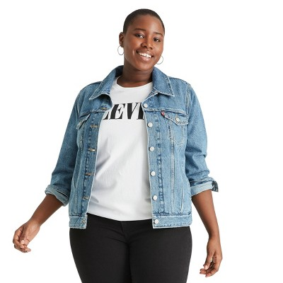 Women's Plus Size Denim Trucker Jacket - Levi's® x Target