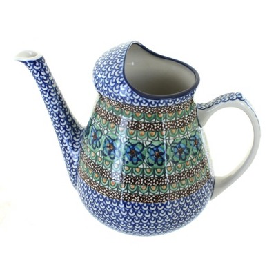 Blue Rose Polish Pottery Mardi Gras Watering Can