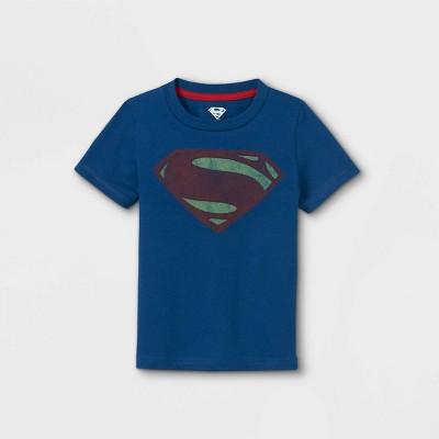 Toddler Boys' Superman Short Sleeve Graphic T-Shirt - Blue