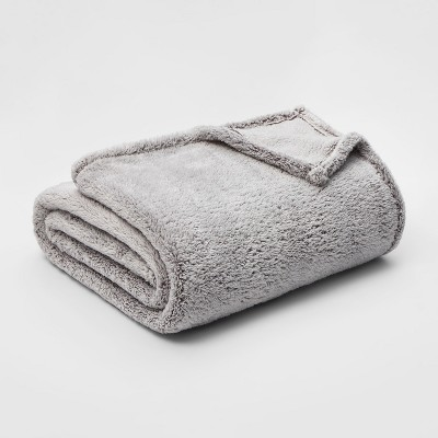 King Fuzzy Bottom Printed Blanket Hot Coffee - Threshold™