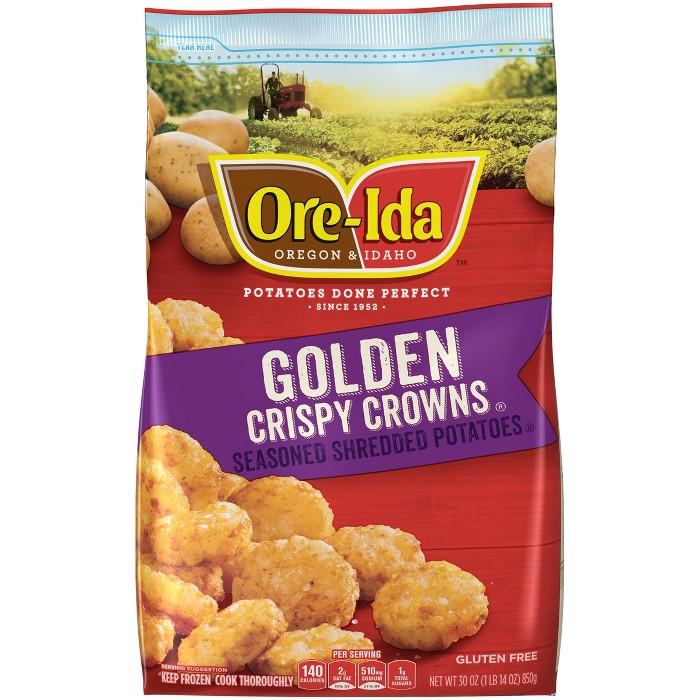 Ore-Ida Crispy Crowns Seasoned Frozen Shredded Potatoes - 30oz - image 1 of 3