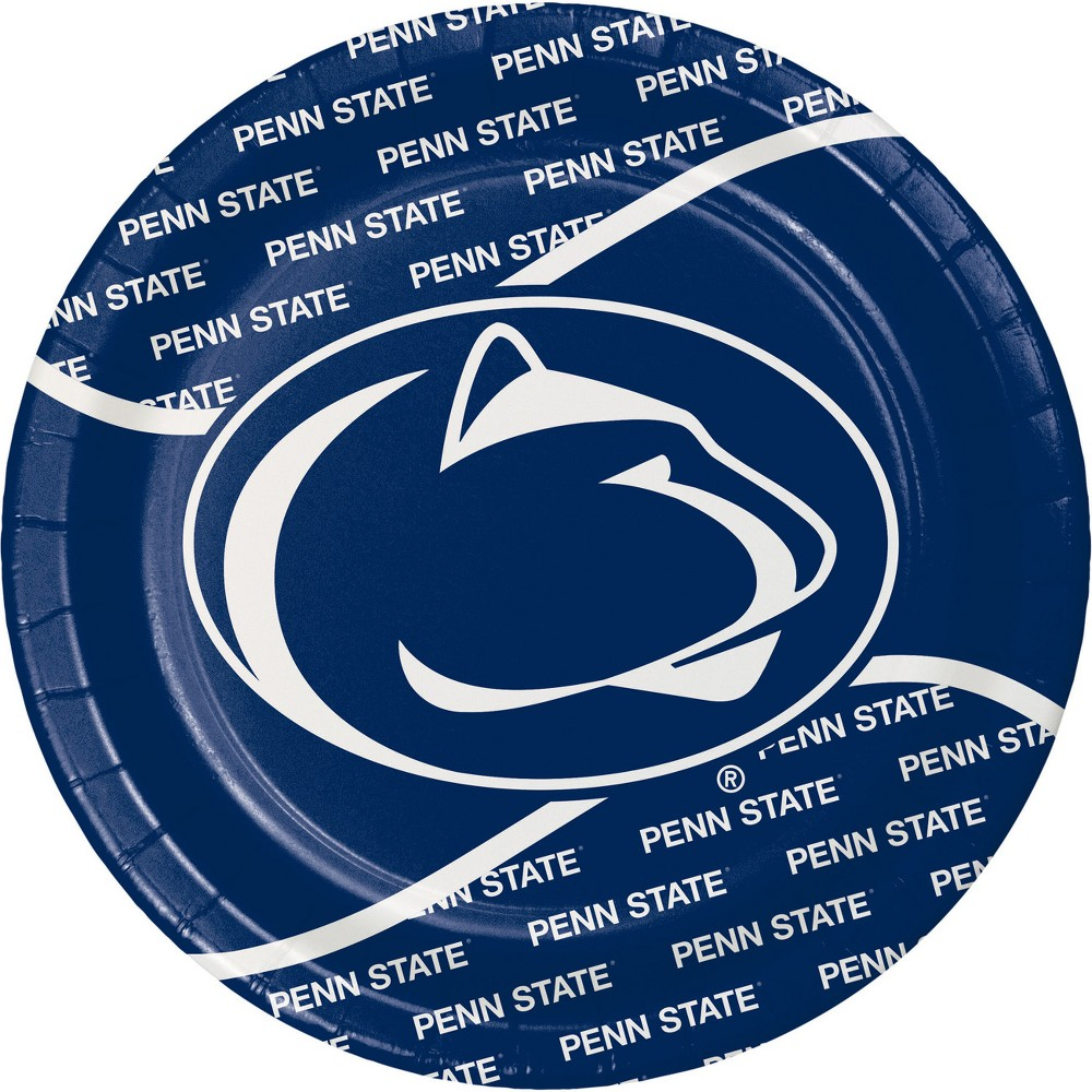 Image of 24ct Penn State Nittany Lions Paper Plates White