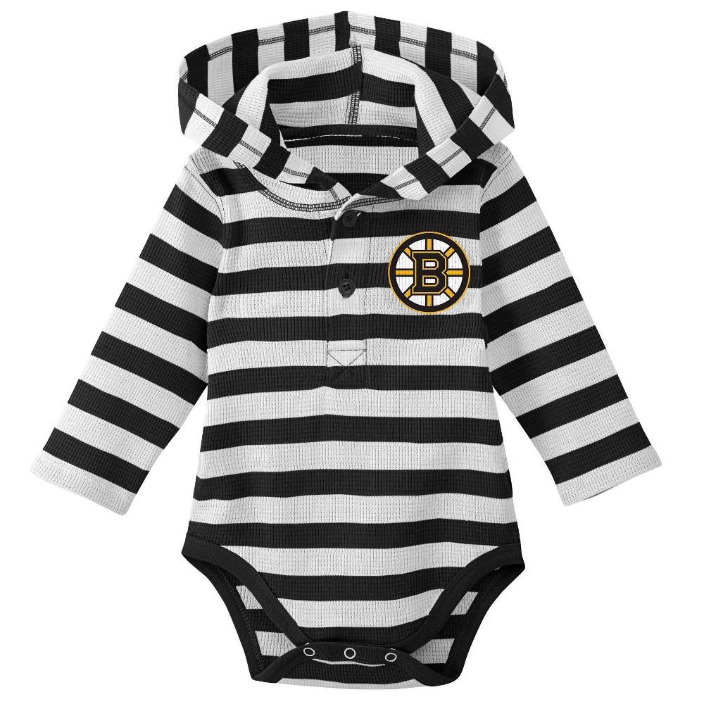 Boston Bruins Boys' Newborn/Infant Sleeper Bodysuit - 0-3M, Multicolored
