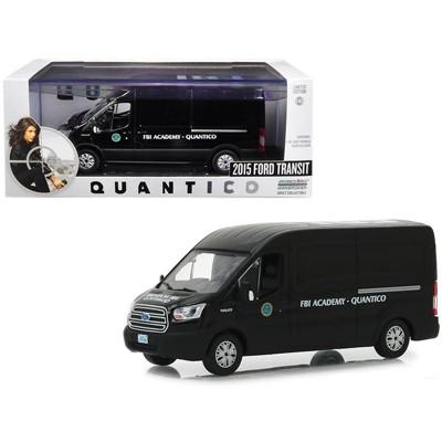 "2015 Ford Transit Van Black ""FBI Academy Quantico"" ""Quantico"" (2015-2018) TV Series 1/43 Diecast Model Car by Greenlight"