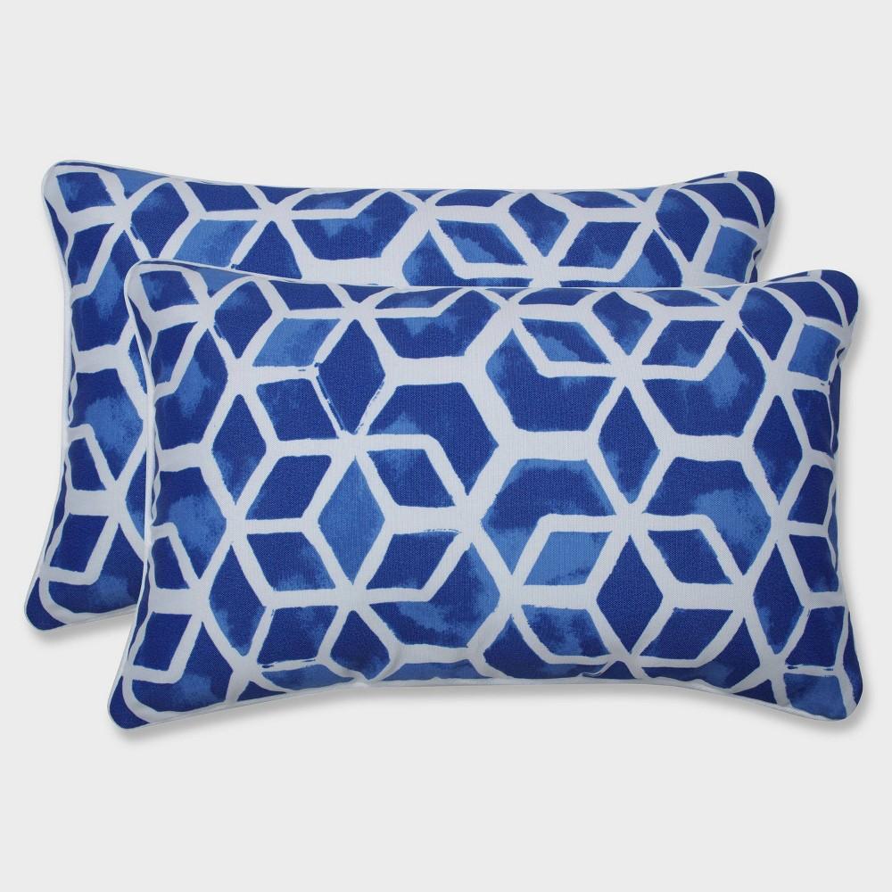 2pk Celtic Admiral Rectangular Throw Pillows Blue - Pillow Perfect